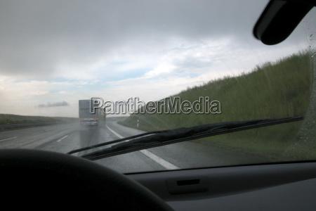 rain on the highway