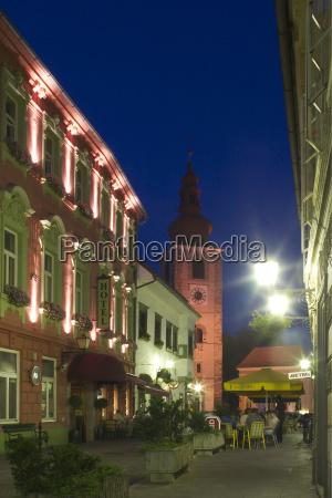 at night night nighttime lighted tourism