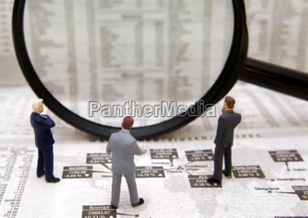 symbolic image of shareholders borsenbroker