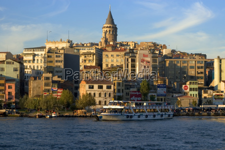 istanbul turkey golden horn in front