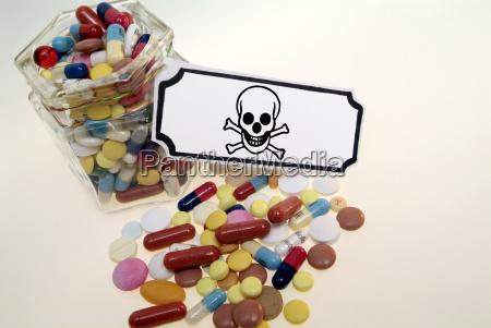 danger health insalubrious symbolic industry skull