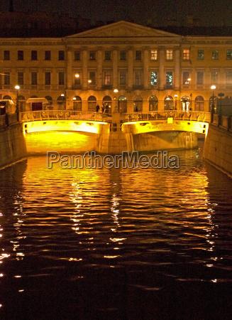 bridge lighted venice europe square in