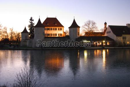 europe bavaria munich in the evening