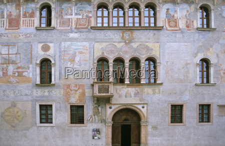 frescoes at palazzo geremia in trento