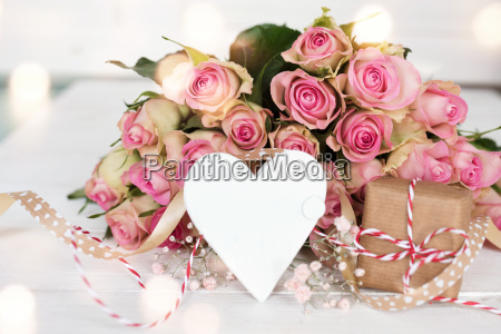 mothers day decoration with a bouquet
