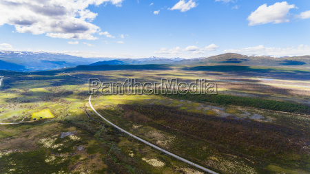 norway summer aerial view from drone