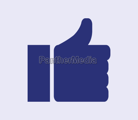 hand icon with i like it