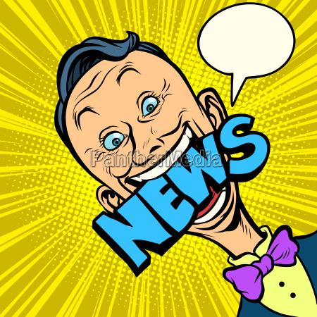 news pop art man journalist
