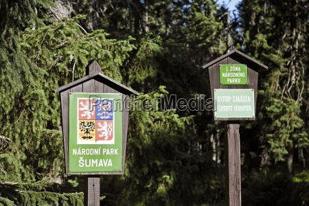 sign signal park national park europe