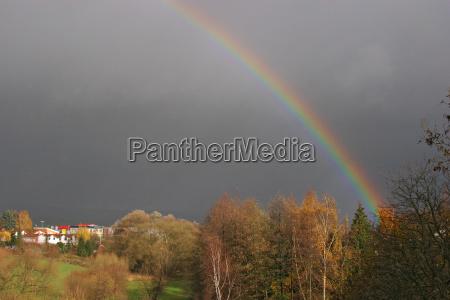 rainbow on the edge of a
