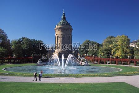 deu mannheim the mannheim water tower