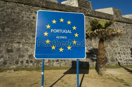 eu shield san miguel azores portugal