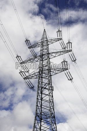 power pole in grid construction of