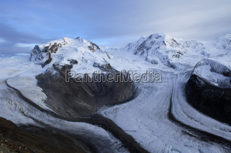 alpine panorama gornergrat with gorner glacier