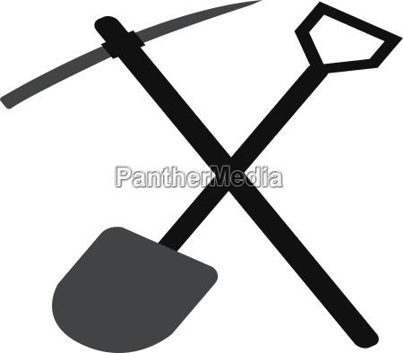 shovel and pickaxe icon