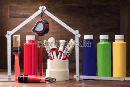 painting equipments under the house made