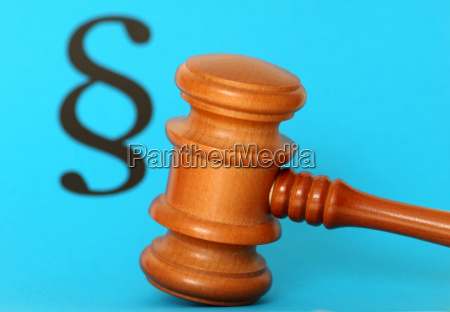 judge gavel and paragraph symbol image