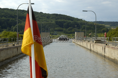 german national flag in front of