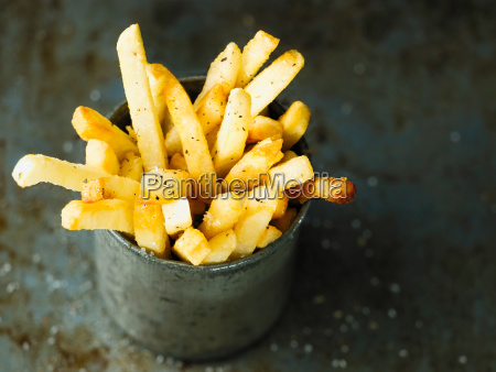 rustic golden french fries
