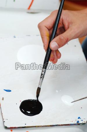 painting with acrylic paints color splashes