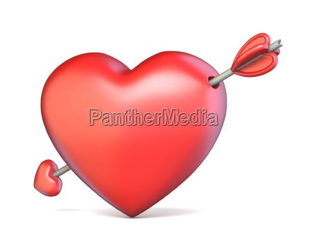 heart pierced by arrow valentines concept
