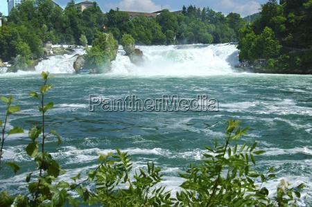 rhine tourism europe switzerland sightseeing waterfall