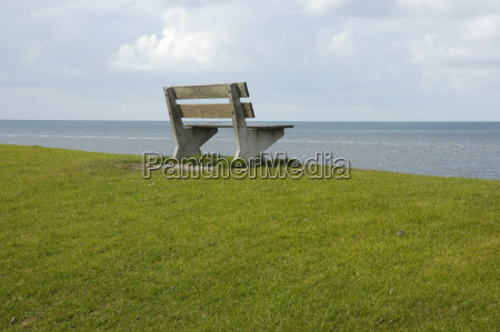 hill waters horizon emptiness void benches