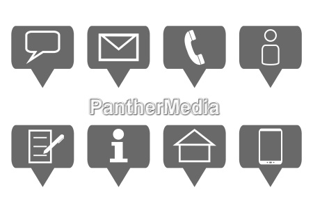 8 contact icons grey