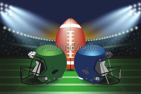 american football final match concept silver