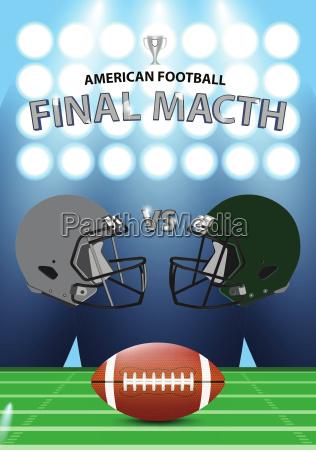 american football final match poster concept