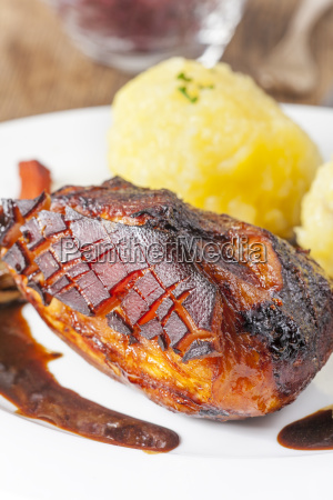 roast pork with potato dumplings
