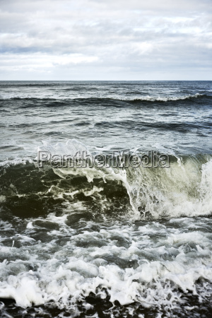 wave sea dirt
