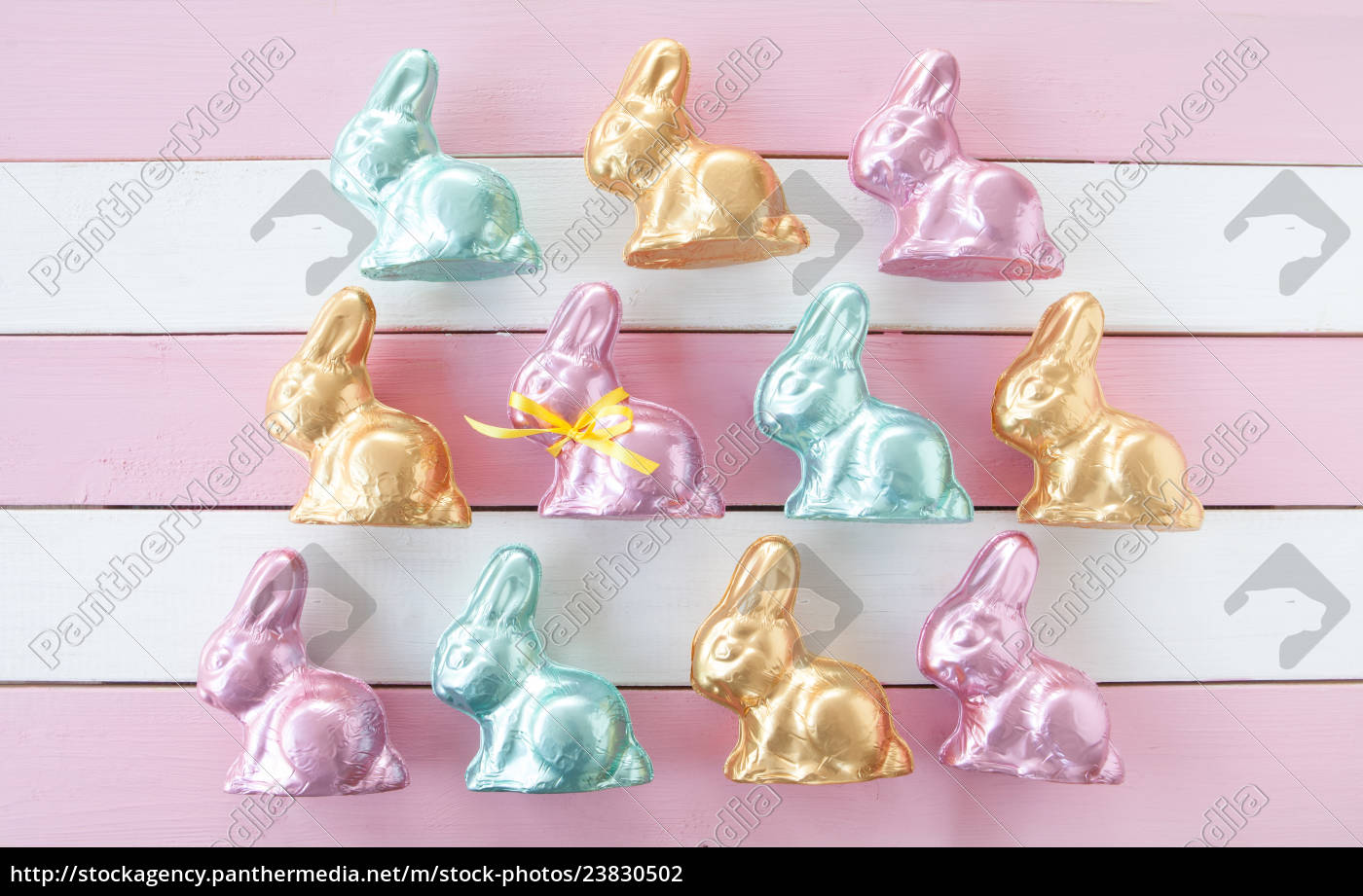 many, colorful, easter, bunnies - 23830502