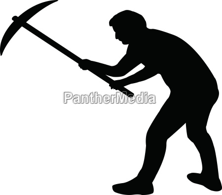 man icon with pickaxe