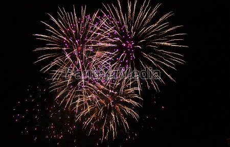 large fireworks display event