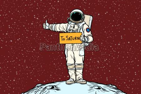 astronaut hitch rides on saturn