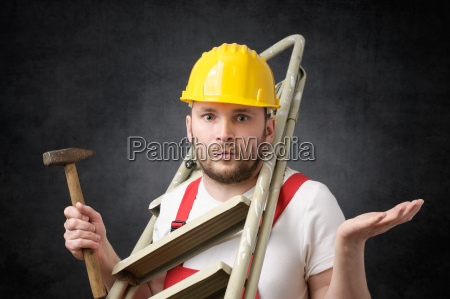 clumsy, worker, with, tools - 23844874