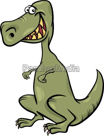 karikaturillustration des dinosauriercharakters
