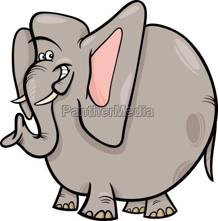 elephant cartoon wild animal character