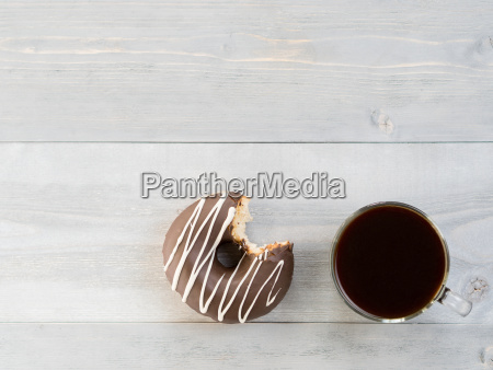 donuts on gray wooden background copy