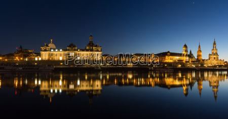 dresden in the evening saxony germany