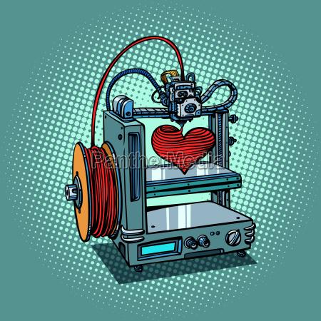 bioprinter prints love heart 3d printer