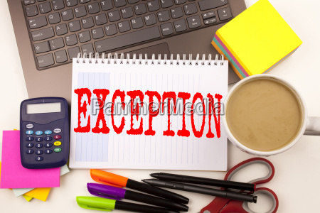 word writing exception in the office