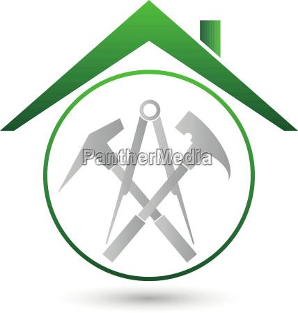 roof tools roofer logo
