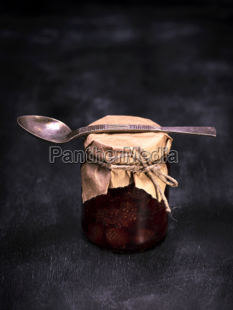 a, small, jar, of, strawberry, jam - 23869082