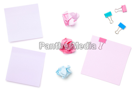 sticky post note paper isolated on
