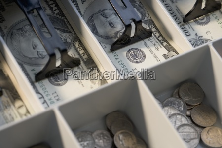 u.s., bills, and, coins, in, cash - 23876348