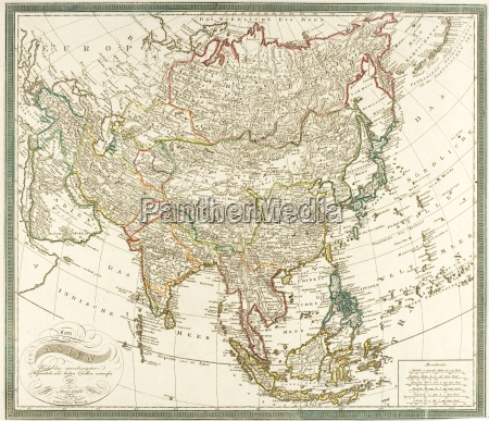antiquated map of asia