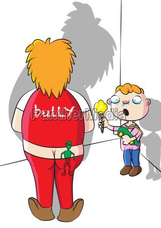 school bully and victim vector illustration