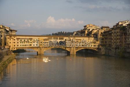 bridge over river ponte vecchio florence